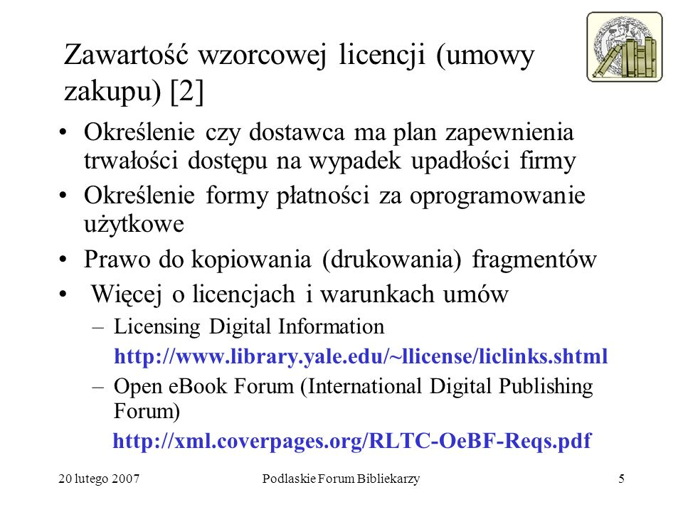 Zawartość wzorcowej licencji (umowy zakupu) [2]